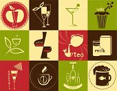 Icons On The Theme - Drinks
