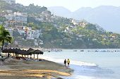 pic of malecon  - Morning beach and ocean in Puerto Vallarta - JPG
