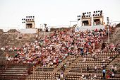 People Are Watching The Opening Of The Opera In The Arena Of Verona