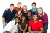 Multi racial College Studenten
