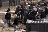 BUDAPEST - NOVEMBER 4: Angelina Jolie, in the role of director, on the set of In The Land Of Blood A