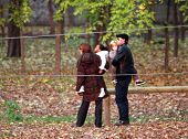 BUDAPEST, HUNGARY - NOV 5: Brad Pitt and Angelina Jolie take their children Pax, Zahara and Shiloh t