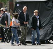 BUDAPEST - MAY 8: Actor Bruce Willis arrives on the set of Die Hard 5: A Good Day To Die Hard in Bud