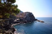 MANAROLA - ITALY: AUG 17: The town of  Manarola, Italy, on Sunday, August 17, 2013. The village is o