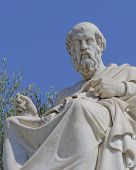 Постер, плакат: Plato the ancient philosopher statue