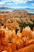 Thor's Hammer and the spectacular Hoodoo rock spires of Bryce Canyon, Utah, USA
