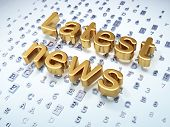News concept: Golden Latest News on digital background