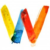 Letter W - colorful watercolor alphabet