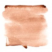 Brown watercolor brush strokes - space for your own text