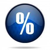 percent internet blue icon