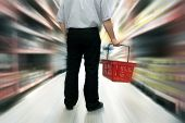 foto of grocery store  - Man shopping - JPG