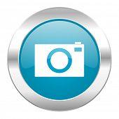 camera internet blue icon
