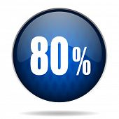 80 % internet blue icon