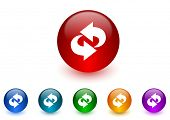 rotation internet icons colorful set