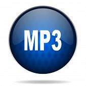 mp3 internet blue icon