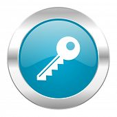 key internet blue icon