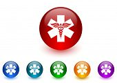 emergency internet icons colorful set