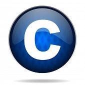 copyright internet blue icon