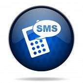 sms internet blue icon