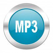 mp3 internet blue icon