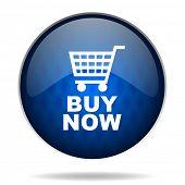 shop cart internet blue icon