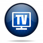 tv internet blue icon