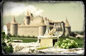 Wine and grapes. Chateau de Aigle, Switzerland