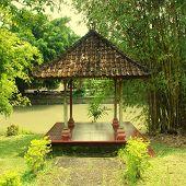 Asian Pavilion In Bali