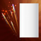 Vector background of diwali crackers with space for your text