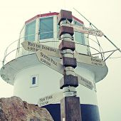 picture of south-pole  - Sign and lighthouse at Cape of Good Hope South Africa - JPG