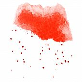 Abstract Red Watercolor Background With Brush Stroke