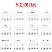 Vector illustration of calendar 2015.