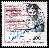 Postage Stamp Germany 1996 Carl Zuckmayer, Writer