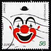 Postage Stamp Germany 2002 Clown Face, Circus
