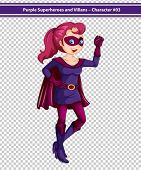 Illustration of a female superhero