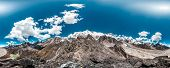 360 Degrees Panoramic View from Gokyo Ri. Himalaya, Nepal