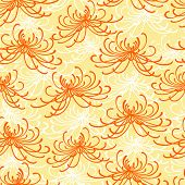 Seamless rangiku disordered chrysanthemum pattern