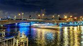 A Yacht In Phra Pok Klao Bridge