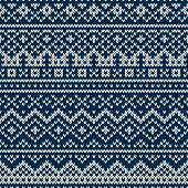 Knitted seamless geometric pattern in traditional Fair Isle style