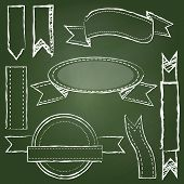 Vector Collection Of Chalkboard Style Banners
