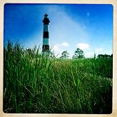 Instagram filtered image of Bodie Lighthouse, Outer Banks, North Carolina