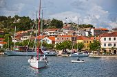 Skradin Is A Small Historic Town In Croatia