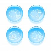 Set Of Cloud Icons. Vector Illustration