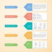 Timeline Infographics Design Template. Vector Elements