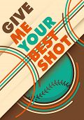 Illustrated baseball poster design with slogan. Vector illustration.
