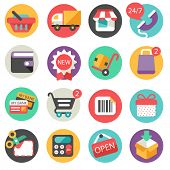 Shopping icons -  flat design
