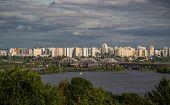 Kiev citys cape and Dnieper river, Ukraine