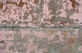 Texture Of Wall Covered Pink Stucco Relief