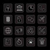 hand drawn flat black icons