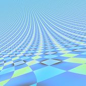Abstract Bright Blue Endless 3D Background